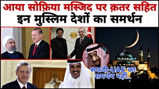 These Countries support Turkey by Aya Sophia but not support Saudi-UAE ..