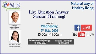 7th October. Question Answer Session