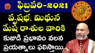 Mesha | Mithuna | Vrushabha | February 2021 Rasi Phalalu | Astrologer Nanaji Patnaik