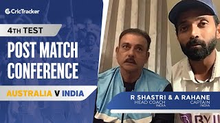 Ravi Shastri and Ajinkya Rahane react on India's Test series win - Press Conference, AUS v IND