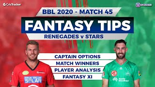 BBL, 45th Match, 11Wickets Team, Melbourne Renegades vs Melbourne Stars, Full Team Analysis