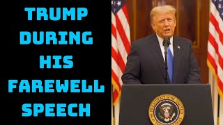 Americans Were Horrified By Assault On Our Capitol: Trump During His Farewell Speech | Catch News
