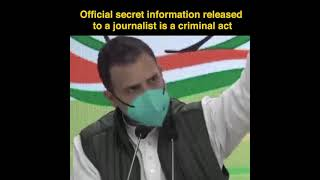 Official secret information released to a journalist is a criminal act
