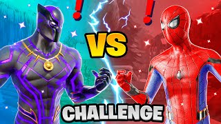 Fortnite Black Panther vs Spiderman Boss Marvel Challenge