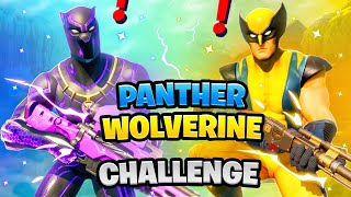 Fortnite Black Panther vs Wolverine Boss Marvel Challenge