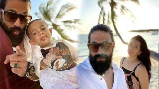 Rocky Bhai in Maldives with Family | Yash | Radhika Pandit | Ayra | Yatharv