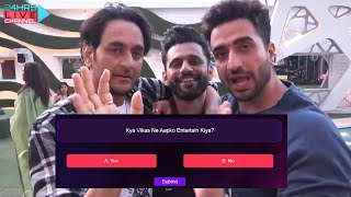 Breaking Vikas Gupta Kar Rahe Hai Entertain, LIVE VOTING Shuru | Bigg Boss 14 Live Feed