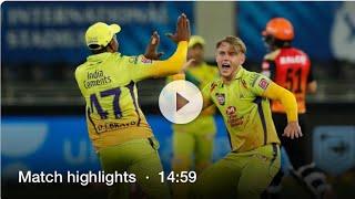 IPL 2020, SRH vs CSK: Chennai Super Kings vs sunrisers hyderabad highlights