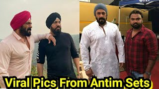 Salman Khan Latest Pictures From Antim Movie Sets