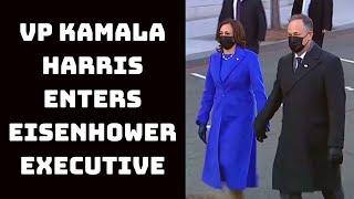 VP Kamala Harris Enters Eisenhower Executive Office Building | Catch News