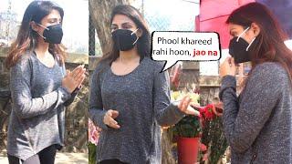 Rhea Chakraborty Seen Buying flowers in Bandra ahead of Sushant Singh Rajput's Birthday
