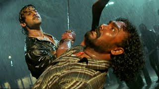 Rudran Malayalam Movie Scenes | Prabhas & Mohan Babu Ultimate Fight - Best Action Scene