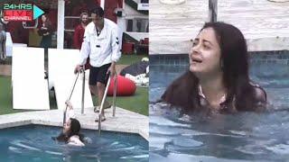 Shocking Vikas Gupta Ne Devoleena Ko Pool Me Dhakela   Bigg Boss 14 Live Feed