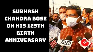 Dharmendra Pradhan Pays Floral Tribute To Subhash Chandra Bose On His 125th Birth Anniversary