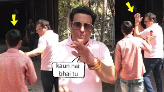 Dancing legend Govinda Very Sweet Angry On Media For Taking pictures