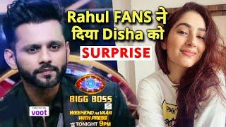 OMG Rahul Vaidya Ke Fans Ne Diya Disha Ko Anokha Surprise, Dekhiye | Bigg Boss 14