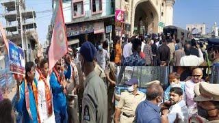 Gau Raksha Dal Walo Ki Rally Charminar Se Bahadurpura | Police Ne Kiya Arrest |@Sach News