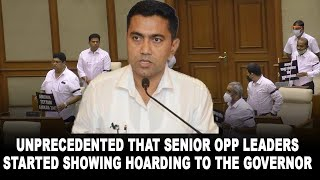 Unprecedented that senior opp leaders started showing hoarding to the governor: CM