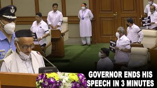 AssemblySession | Governor ends his speech in 3 minutes, Opposition infuriated