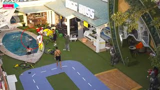 Cycle Task Me Rubina Ne Pool Me Utarkar Cycle Ko Dubaya | Kiski Thi Strategy? Bigg Boss 14 Live Feed