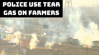 Police Use Tear Gas On Farmers In Delhi's Sanjay Gandhi Transport Nagar | Catch News