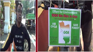 Cycling | This man will ride 1000 Kms in Goa to spread message of 'Save Forest'