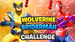Fortnite Wolverine vs Spiderman Boss Marvel Challenge