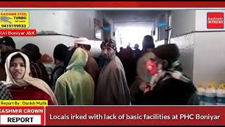 Locals irked with lack of basic facilities at PHC Boniyar.