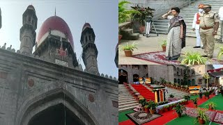 Telangana High Court Chef Justice Sri Hima Kohli Flag Hosting |@Sach News