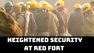Heightened Security At Red Fort Day After Chaos During Tractor Rally | Catch News