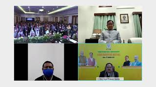 Shri JP Nadda addresses Manipur BJP State Executive Meeting via video conferencing.