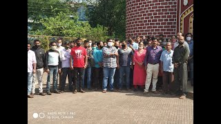 PWD Labour Society workers from all over Goa protest at Farmagudi, demand hike in salary