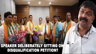 Speaker deliberately sitting on disqualification petition of 10 turncoat MLAs?