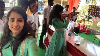 Singer Sivaangi outing meet fans