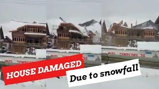 Snowfall: Residential house damaged in Tengpora Byepass