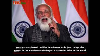 India has vaccinated over 2 million health workers in just 12 days, fastest in the world: PM Modi