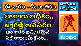 weekly rasi phalalu l weekly horoscope l weekly astrology l kumbha rasi 2020 l aquarius june 2020