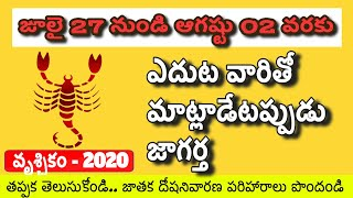 Vruschika Rasi July 2020 Telugu 26to02 l August Vruschika Rasi Phalalu 2020 | Scorpio Horoscope 2020