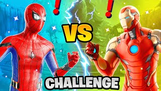 Fortnite Spiderman vs Iron Man Boss Marvel Exotic Weapons Challenge