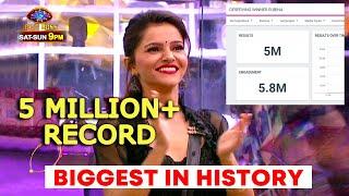 Bigg Boss 14 | Rubina Dilaik CREATES NEW RECORD | Fastest 5 MILLION Tweets | BB14 Latest Update