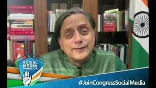 Shashi Tharoor on Save India Join Congress Social Media