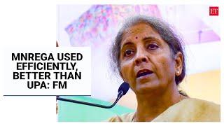 MNREGA used efficiently, better than UPA: FM Nirmala Sitharaman