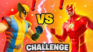 Fortnite Wolverine vs Flash Boss Marvel Challenge