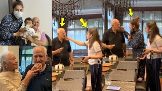 Raveena Tandon Daughter Rasha Thadani Very Cute Moment At Her Grandfather Ravi Tandon Birthday