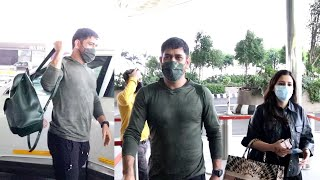 MS Dhoni Simplicity Level Is On Top Level, Spotted With Wife Sakshi Dhoni At Airport