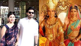 Ramayan Serial Couple Gurmeet Choudhary and Debina Seen At Airport After visiting Ram Janmabhoomi