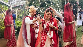Dia Mirza Shared Her Grand Wedding Entry Video | Dia Mirza Weds Vaibhav Rekhi
