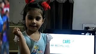 India Pakistan Match - नन्ही बच्ची का भारत प्रेम