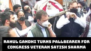Rahul Gandhi Turns Pallbearer For Congress Veteran Satish Sharma | Catch News