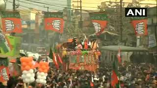 Union Home Minister Amit Shah 's road show  in West Bengal.